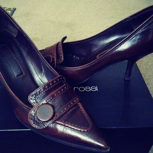 Sergio Rossi Brown Leather Pumps
